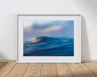 WAVES  1-  Long Exposure In Water Seascape, Cullercoats Bay, North East England. Photographic Giclee Print A4, A3, A2.