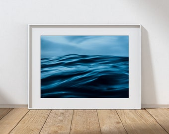 MOOD NO.2 -  Long Exposure In Water Seascape, Cullercoats Bay, North East England. Photographic Giclee Print A4, A3, A2.