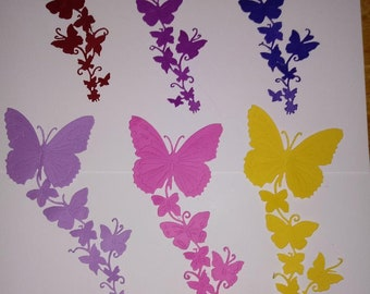 Free Secondary Shipping BRIGHT NEON Collection 100  Paper Butterfly Die Cuts 2 inch cardstock