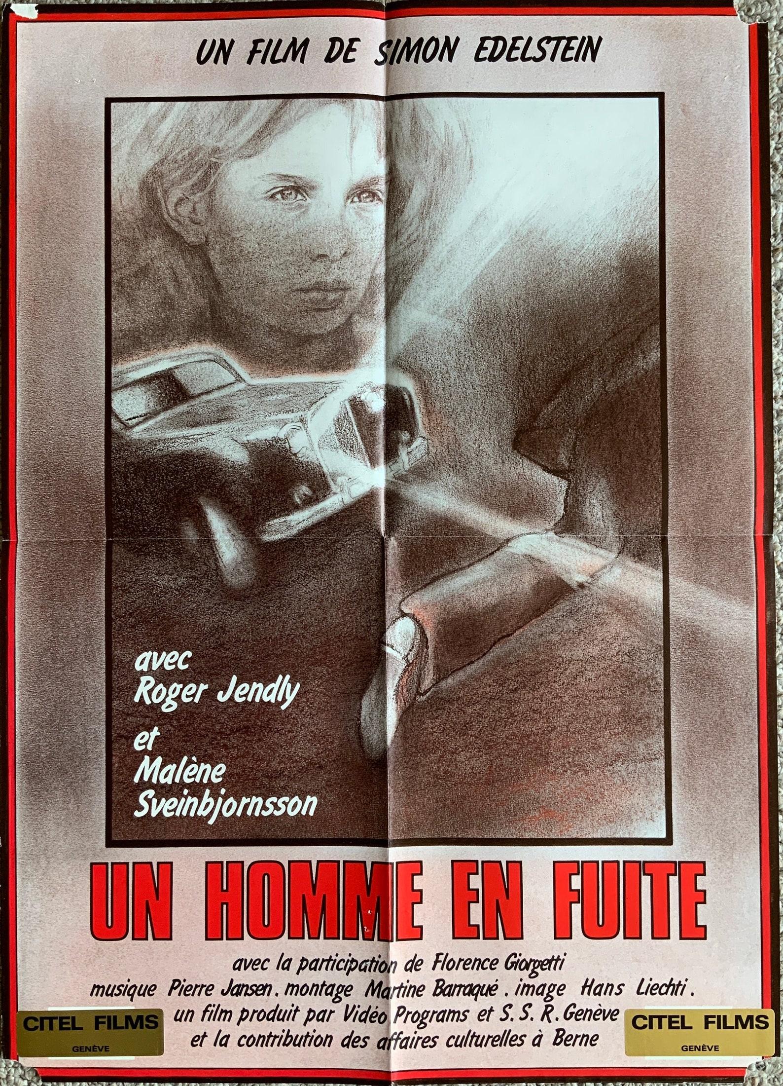 Ein Mann Auf flucht Original 1980 Französisch Poster   Etsy