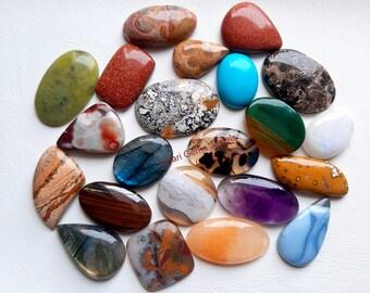 Details about  /Natural Beautiful Prehnite Fancy Cabochon Loose Gemstone Wholesale Lot LA-16635
