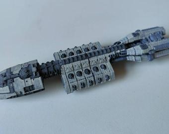 3D Printed Berzerk class assault carrier from Battlestar Galactica