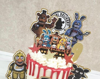 Five night at Freddys cake topper, five night at freddys cake topper collection
