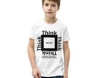 Think Outside The Box Unisex Youth Short Sleeve T-Shirt