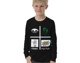 I Read For Fun Cool Graphic Tee