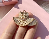 1pc pearl hat charm for jewelry making hat charm pearl charm for cellphone embellishments and decor