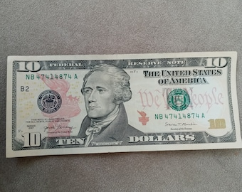 GL00002415A Free USA Shipping! 2004A Ten Dollar FRN Color of Money Currency Super Low Serial Number San Francisco