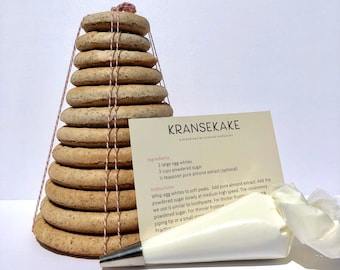 D.I.Y. Norwegian Kransekake, we make and bake and you and the family decorate!  Delivered straight to your door.