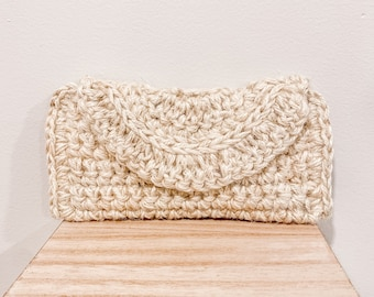 The Crescent Clutch in Ivory