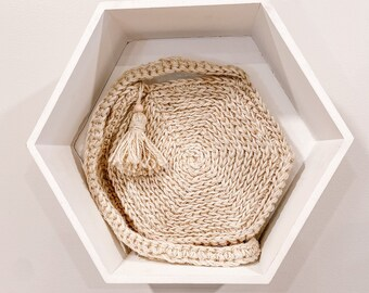 The Honeycomb Bag in Ivory