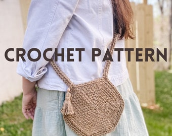 Crochet Shoulder Bag Pattern //PDF Download Crochet Pattern // Crochet Boho Bag Pattern