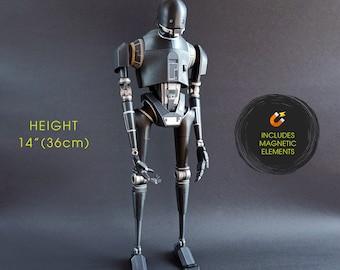 "Robot Droid - 3D Printed Model - Moving Parts Figure - 14"" - Guard"