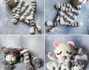 Knitted cute and soft cat for pajamas This is an amazing toy for a comfortable sleep for the baby.