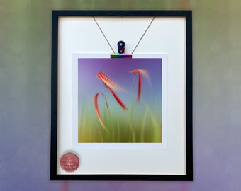 Floral/BLOWING/Grasses/Unmounted Flower Print /Flower Card/Abstract Flower Mini Print/Abstract FlowerDigital Art/Photo Art Dianne Owen/