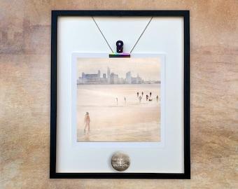 BIRKENHEAD BATHERS/Wirral/Liverpool/beach/Liverpool skyline/lifeguard/Unmounted Print//Mini Print/Digital Art/Photo Art Dianne Owen