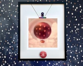 Hot Air Balloon/ Love Balloon/Unmounted Print /Balloon LOVE/Balloon mini Print/Hot Air Balloon/Balloon/Photo Art Dianne Owen/ Lovers Art