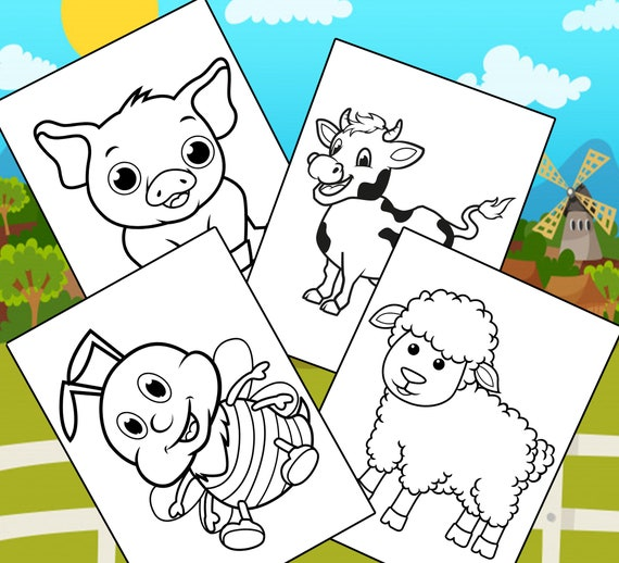 Farm Animal Coloring Pages  10 Printable Farm Animal Coloring