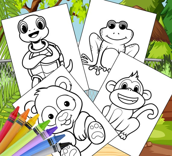Zoo Animal Coloring Pages  10 Printable Zoo Animal Coloring