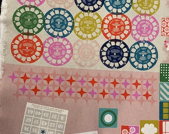 Cotton and Steel Playful fabric  playroom Pink, Melody Miller Fabric, OOP Cotton and Steel fabric