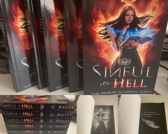 Signed Paperback of Sinful as Hell by G. Bailey + free Swag.
