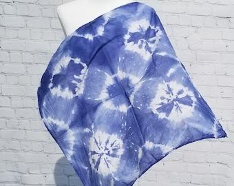 Hand Dyed Organic Cotton Shibori Indigo Bandana