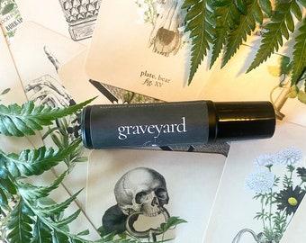 GRAVEYARD // Graveyard Dirt, Moss, Rain, Funeral Lily, Patchouli // Perfume Oil // Roll On