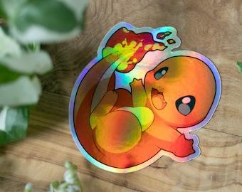Pokémon Glumanda Sticker Holographic Vinyl Starter Pokémon Kanto