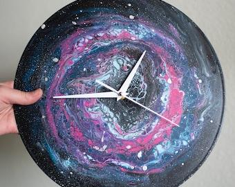 Blue and Purple Acrylic Resin Clock