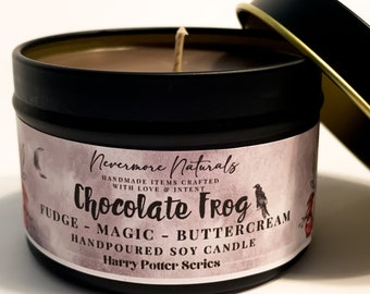 Chocolate Fudge Brownie Scent Hogwarts Inspired Wizard Candle Fandom Candles CHOCOLATE FROG Soy Candle Harry Potter Fandom
