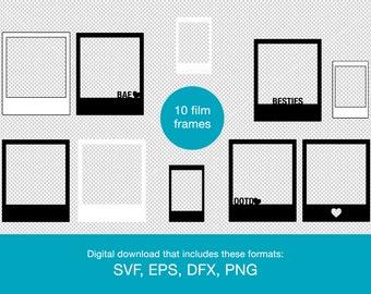 polaroid frame svg