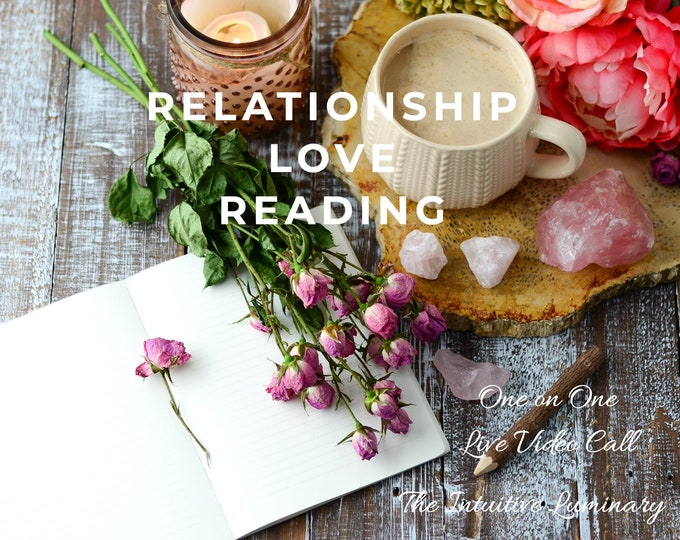 Featured listing image: Love & Relationship Reading - Live Video Call - 15 Minute Session | The Intuitive Luminary