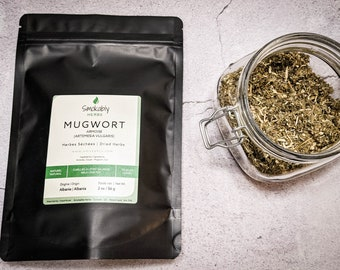 Organic Mugwort herb | Popular base for herbal blends | High quality and fresher dried herbs