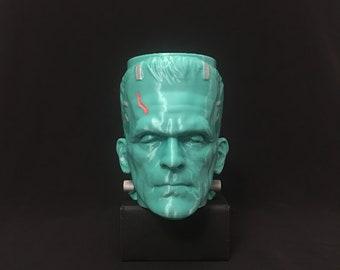 Frankenstein's Monster Handmade and Painted! 3D-Printed Planter/Pen Holder/Candle Holder PLA Decor Halloween