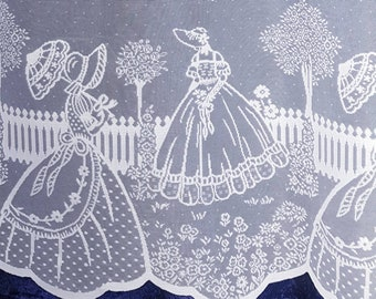 Vintage style 'My fair Lady' net curtain. Nottingham Lace. Limited stock! Sold by the metre