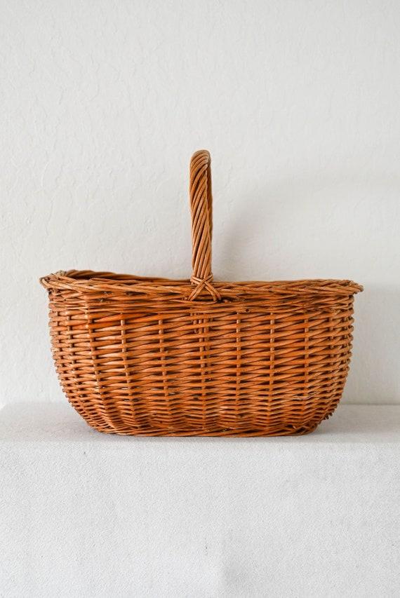 Woven Ash Picnic Basket Prairie Picnic Basket Large Picnic Basket Wicker Picnic Basket Vintage Woven Picnic Basket