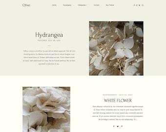 Premade responsive blogger template, Responsive Blogger Theme, Blogger Theme, Minimalist + Free Installation - Olive