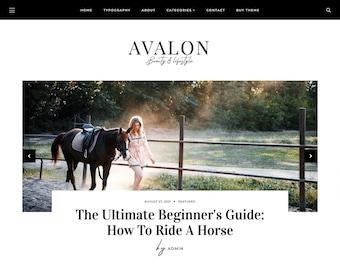 Avalon • Responsive Blogger template, modern premium Blogger theme, slider lifestyle blog design, premade feminine fashion Blogspot layout
