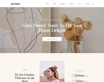 Gemma - Responsive Blogger Template, Blogger Template, Blogger Theme, Responsive Blogger Theme for Entrepreneurs + Free Installation