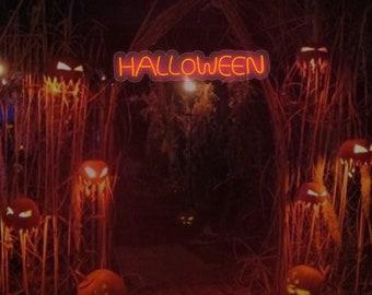 Happy Halloween Sign, Halloween Outdoor Decoration, Halloween Neon Sign,  Halloween Yard Decor, Diy Halloween Decor, Halloween Decor