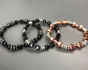 Bella & Beast Dumbbell Bracelets