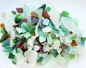Edinburgh Scottish Sea Glass, Craft Bundle - 900g - mixed size, texture, colour vintage - naturally sea tumbled.