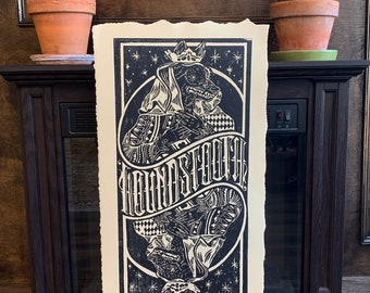 HT Limited Edition Woodblock Print