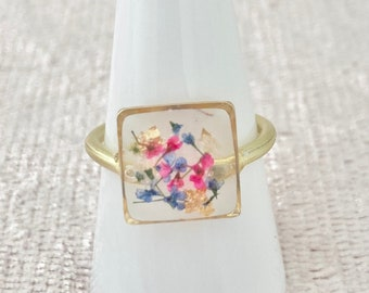 Handmade Resin Statement Ring