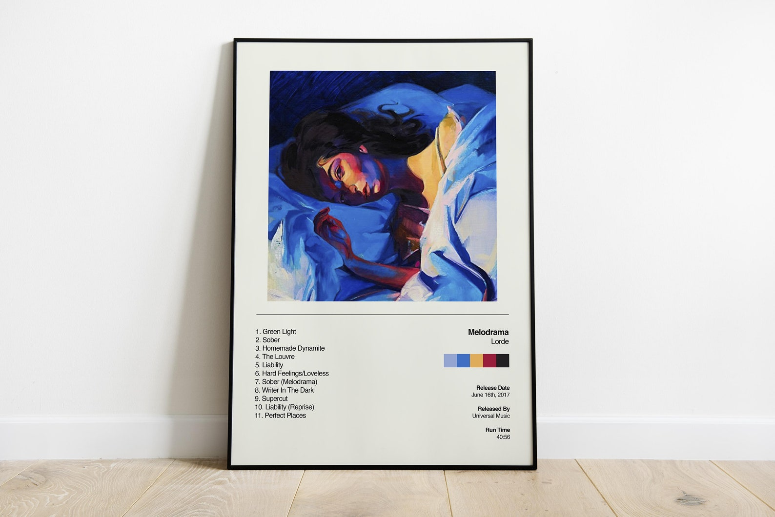 Lorde Poster Melodrama Album Cover Poster Music Poster   Etsy