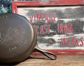 Griswold Large Block Label (LBL) No. 8 Skillet EPU, p n 704 Circa 1930 39 s Antique Collectible Cookware Vintage Cast Iron Vintage Cookware