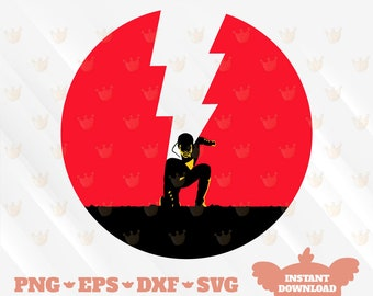 dxf clipart digital Cricut Super hero icon File for cut Silhouette png Super hero icon: Shazam svg