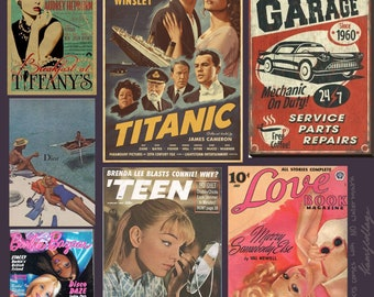 90s vintage wall posters (read the describtion)