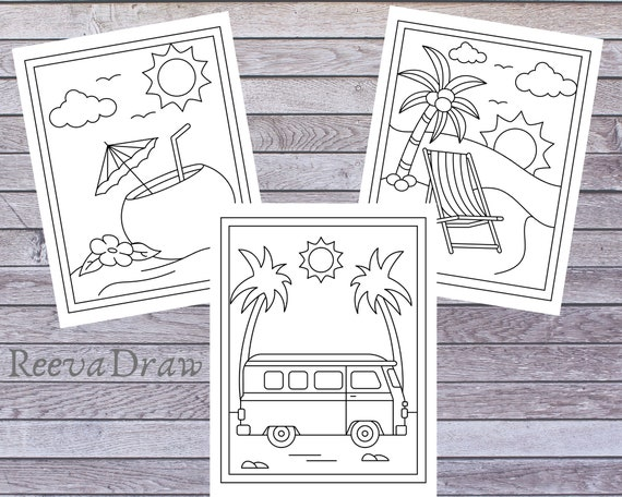 Summer Coloring Pages for KidsGirlsBoys and Teens Lovely 48