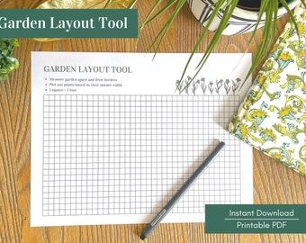 Garden Layout Tool - Printable PDF - Instant Download - Garden Planning Template, Garden Design Grid, Garden Graph Paper, Landscape Design