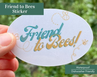 Save the Bees Sticker - Bee Sticker, Pollinator Sticker, Nature Sticker